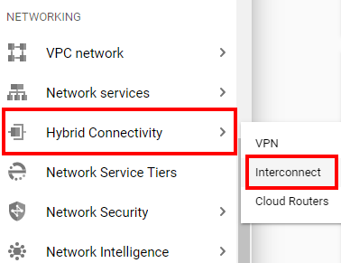 Google Cloud hybrid connectivity option